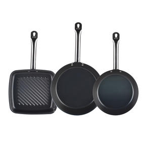Russell Hobbs Infinity 24/28cm Frying Pans with 26cm Griddle Pan, Black Thumbnail 2
