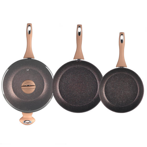 Salter Marble Collection 24 28cm Frying Pans With 28cm