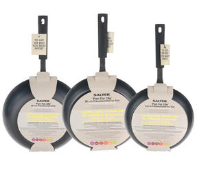 Salter Pan For Life 24/28cm Frying Pans with 28cm Wok, Black Thumbnail 5