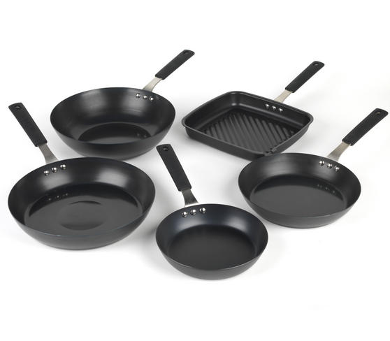 Salter Pan For Life 5 Piece Pan Set, Black