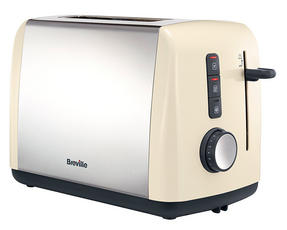 Breville VTT758 Colour Collection 2 Slice Toaster, Cream