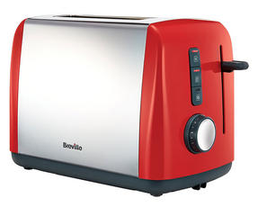 Breville VTT757 Colour Collection 2 Slice Toaster, Red