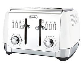 Breville VTT762 Strata 4 Slice Toaster, White Thumbnail 1