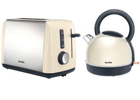 Breville Colour Collection Kettle and 2 Slice Toaster Set, Cream Thumbnail 1