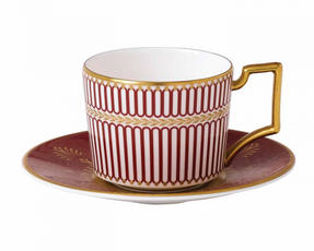 Wedgwood 40000669 Anthemion Ruby Espresso Saucer Thumbnail 2