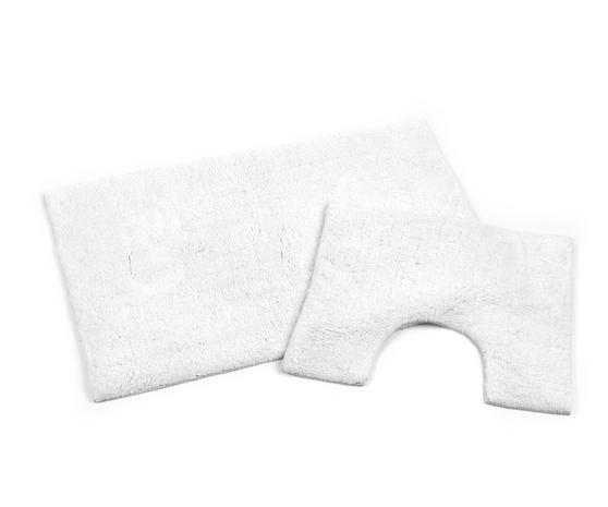 Beldray LA038951 2 Piece Latex Backed Plain White Bathroom Mat Set