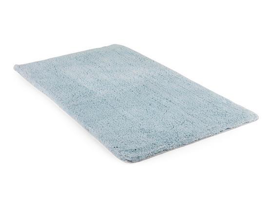 Beldray 2 Piece Latex Backed Plain Blue Bathroom Mat Set Thumbnail 2