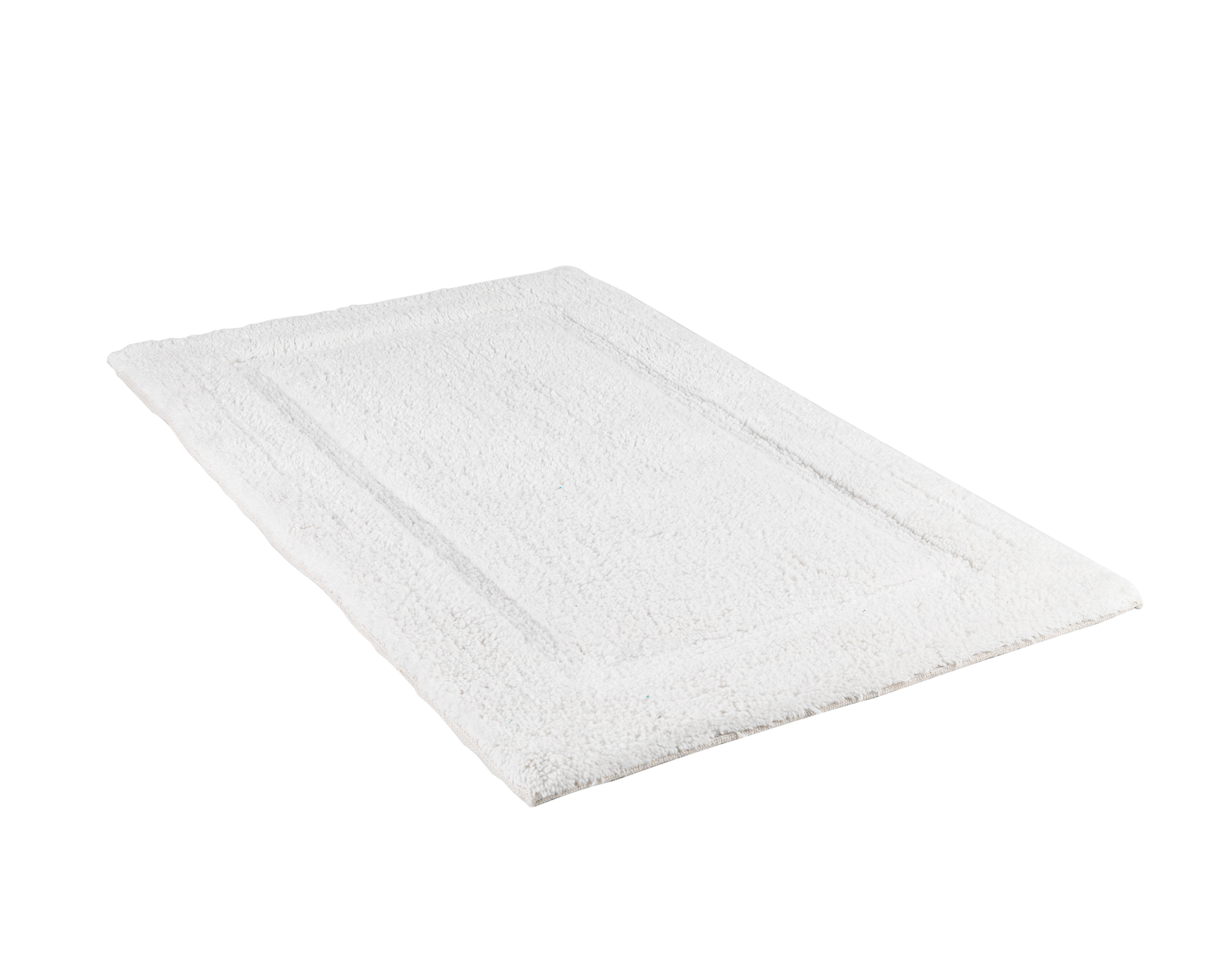 Beldray 2 Piece Latex Backed Embossed White Bathroom Mat