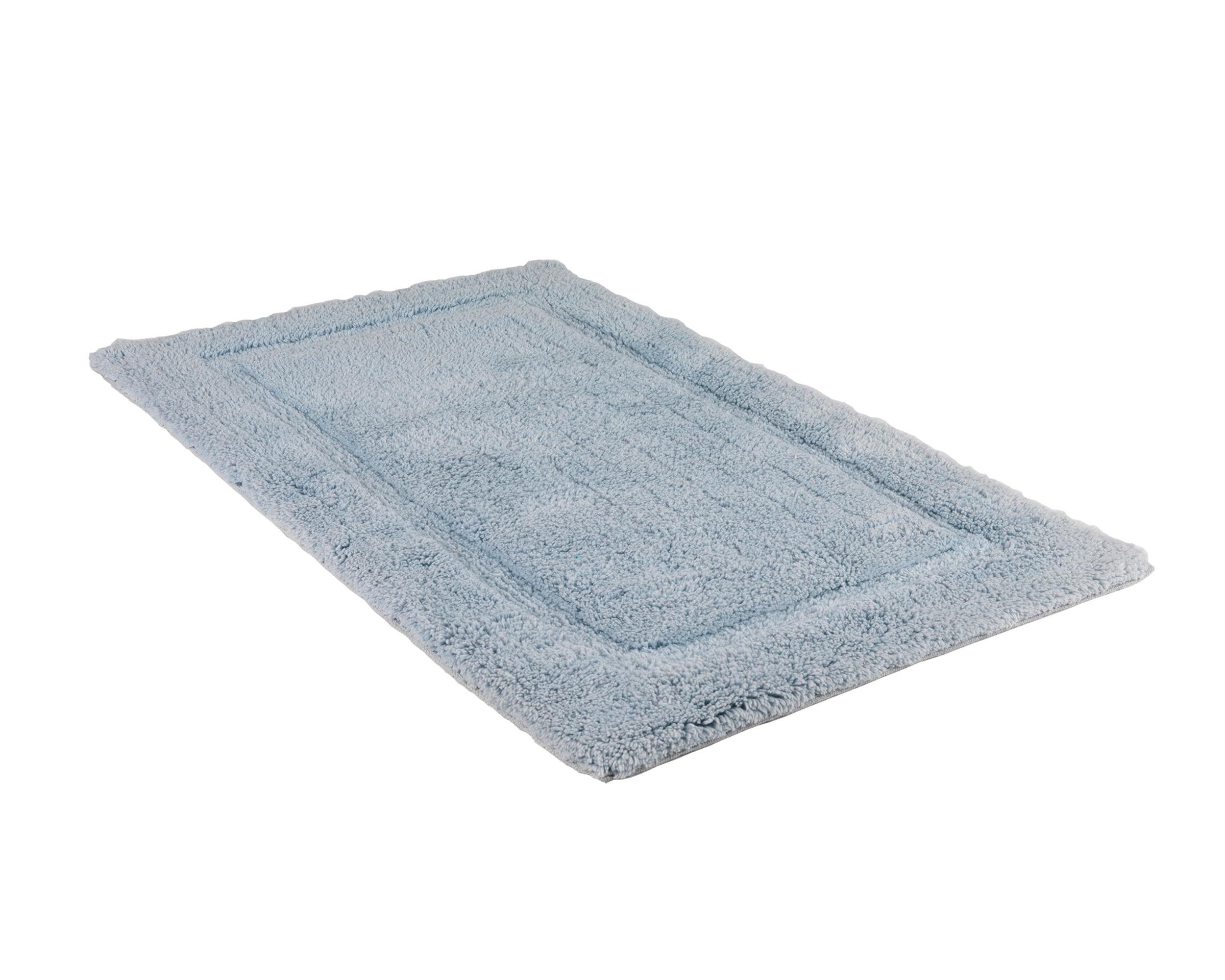 Beldray 2 Piece Latex Backed Embossed Blue Bathroom Mat