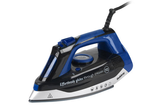 Beldray Max Steam Pro Steam Iron, 3000 W, Black/Blue Thumbnail 1