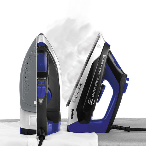 Beldray Max Steam Pro Steam Iron, 3000 W, Black/Blue Thumbnail 2