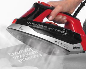 Beldray BEL0562R Max Steam Pro Steam Iron, 3000 W, Black/Red Thumbnail 4