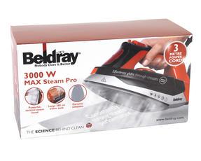 Beldray BEL0562R Max Steam Pro Steam Iron, 3000 W, Black/Red Thumbnail 7
