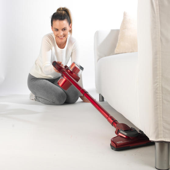 Beldray Quick Cordless Lite Vacuum Cleaner, 0.3 Litre, 22.2 V, Red Thumbnail 4