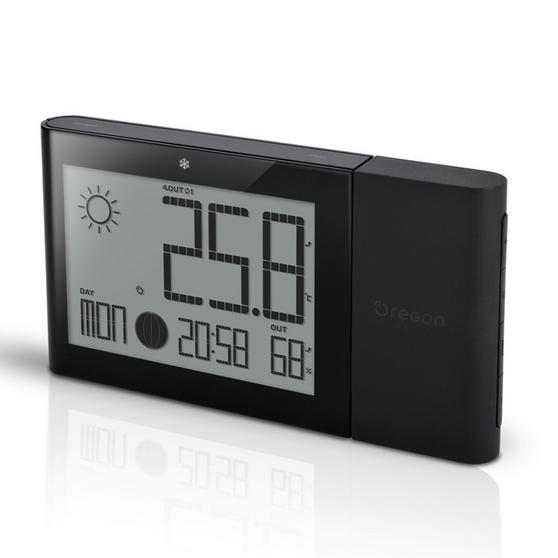 Oregon Scientific BAR268HG Alizé Weather Station, Advanced Version, with Indoor & Outdoor Temperature and Humidity, Black