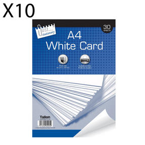 Just Stationery 5095 A4 30 Sheet White Card, Pack of 10