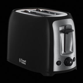 Russell Hobbs 23862 Darwin 2-Slice Toaster, Black/Silver Thumbnail 3