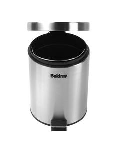 Beldray LA038050SS 30 Litre and 5 Litre Round Pedal Bin Set, Stainless Steel Thumbnail 4