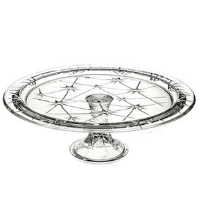 RCR 25311020006 Stella Crystal Footed Cake Stand, Italian Manufactured, 33cm Thumbnail 1