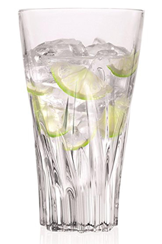 RCR 25716020006 Crystal Fluente Hiball Tumbler Glasses, 400ml, 13 5cm, Set  of 6