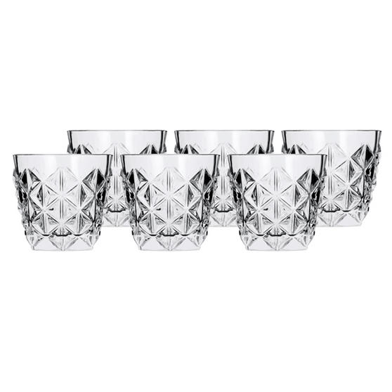 RCR 25752020006 Enigma Luxion Crystal Glass Whisky Tumblers, 370 ml, Set of 6