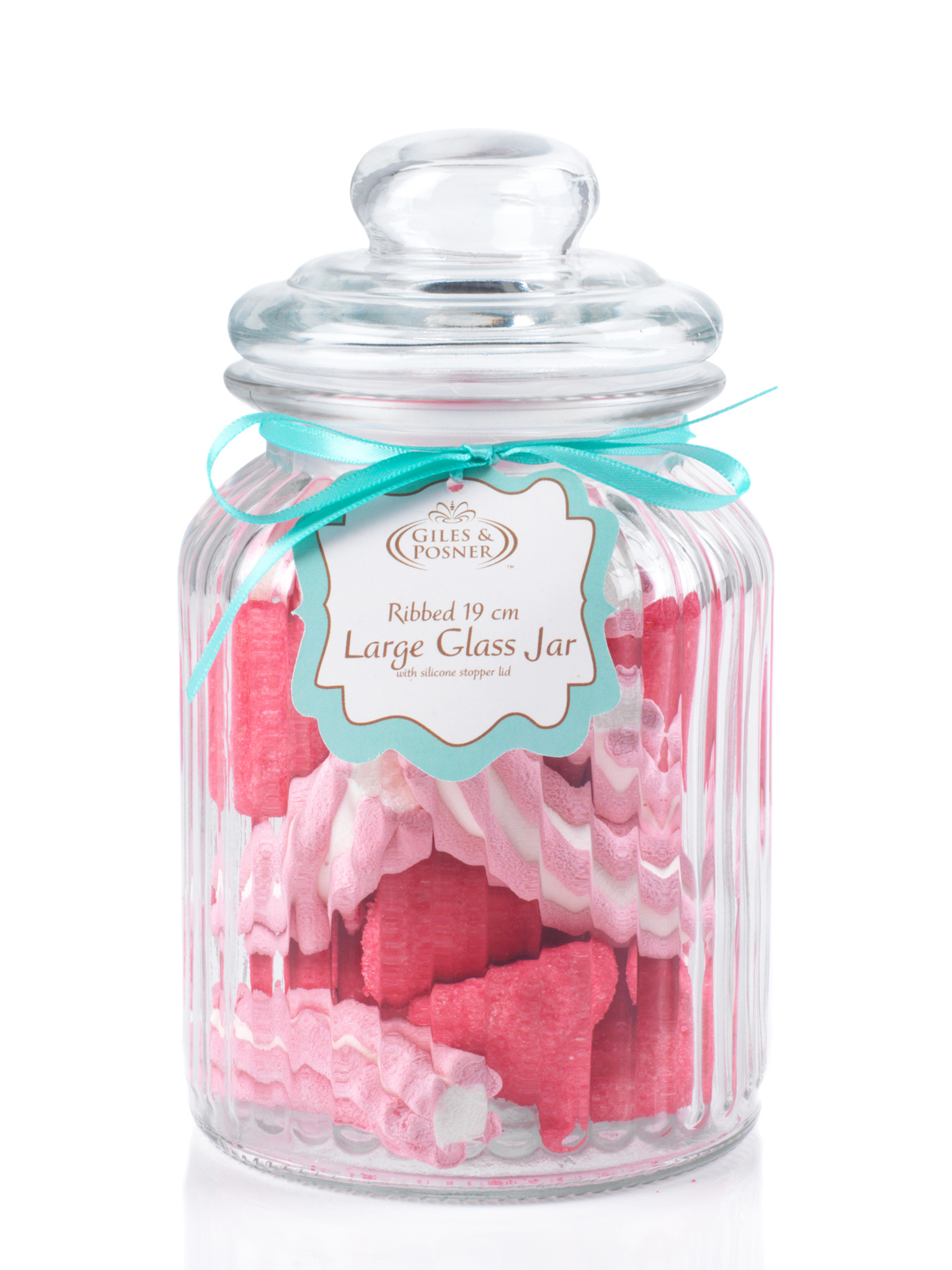Giles & Posner Large Ribbed Glass Candy Jar | Party Products | Giles ...