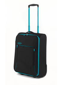 "Constellation Superlite Luggage Set, 18"", 24"" & 28, Black/Turquoise Thumbnail 2"