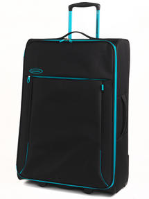 "Constellation Superlite Luggage Set, 18"", 24"" & 28, Black/Turquoise Thumbnail 4"
