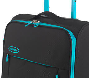 "Constellation Superlite Luggage Set, 18"", 24"" & 28, Black/Turquoise Thumbnail 5"