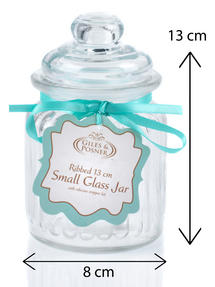 Giles & Posner QCJ186750 Small Ribbed Glass Candy Jar Thumbnail 3