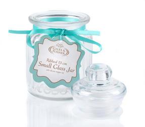 Giles & Posner QCJ186750 Small Ribbed Glass Candy Jar Thumbnail 4