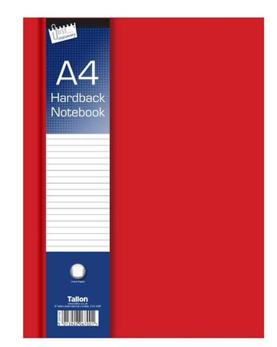 Just Stationery 6700 A4 Ruled Hardback Notebook