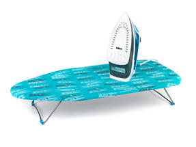 Beldray 2400W Flite Steam Iron and Peg Print Table-Top Ironing Board Set Thumbnail 3