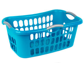 Beldray 18 Metre Clothes Airer and Beldray Hip Hugger Laundry Basket Set, Turquoise Thumbnail 2