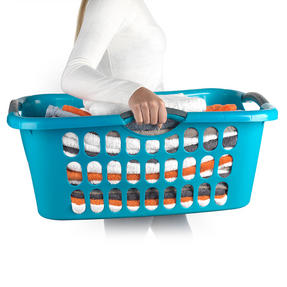 Beldray 18 Metre Clothes Airer and Beldray Hip Hugger Laundry Basket Set, Turquoise Thumbnail 4