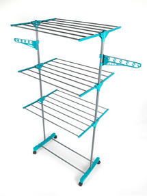 Beldray 3-Tier Deluxe Clothes Airer and Laundry Basket Set Thumbnail 4