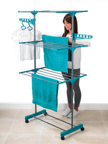 Beldray 3-Tier Deluxe Clothes Airer and Laundry Basket Set Thumbnail 6