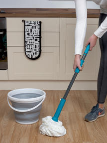 Beldray Extendable Twist Mop and 10 Litre Collapsible Bucket Set Thumbnail 4