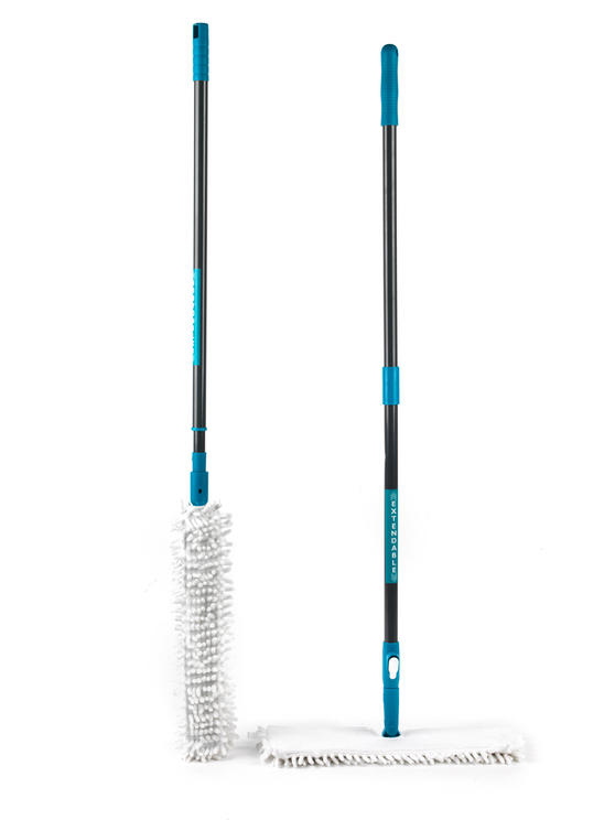Beldray Double Sided Bending Mop and Extendable Microfibre Duster Set
