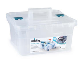 Beldray Small Clear Caddy, Mini Cleaning Brush and 4-Pack of Microfibre Cloths Cleaning Set Thumbnail 5