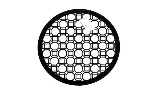 Inspire Luxury Lacquered Octagon Round Placemat, 35cm, MDF, Black