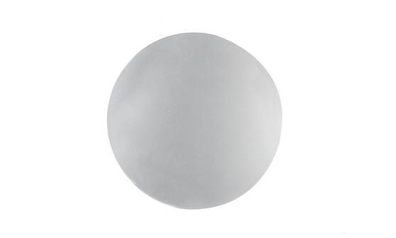 Inspire Luxury Shimmer Metallic Round Placemat, 29cm, MDF, Silver