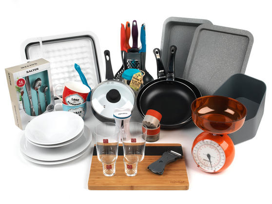 Student Box Cook, University Student 44-Piece Kitchen Set
