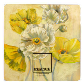 Inspire BCH269393 Luxury Golden Poppy Placemats, 29 x 29cm, Hardboard, Set of 4 Thumbnail 2