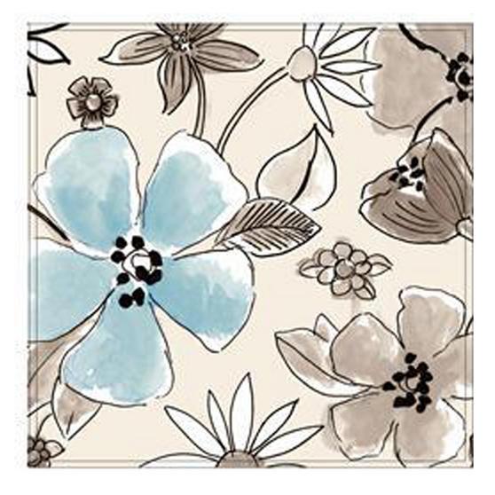 Inspire BCH249210 Luxury Flower Garden Placemats, 29 x 29cm, Hardboard, Neutral, Set of 4
