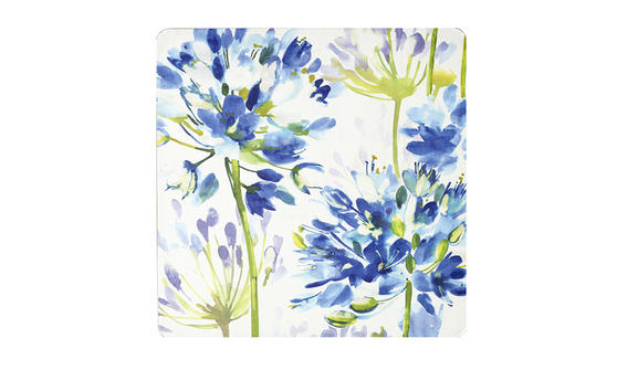 Inspire BCH281555 Luxury Blue Medley Placemats, 29 x 29cm, Hardboard, Blue/Green, Set of 4