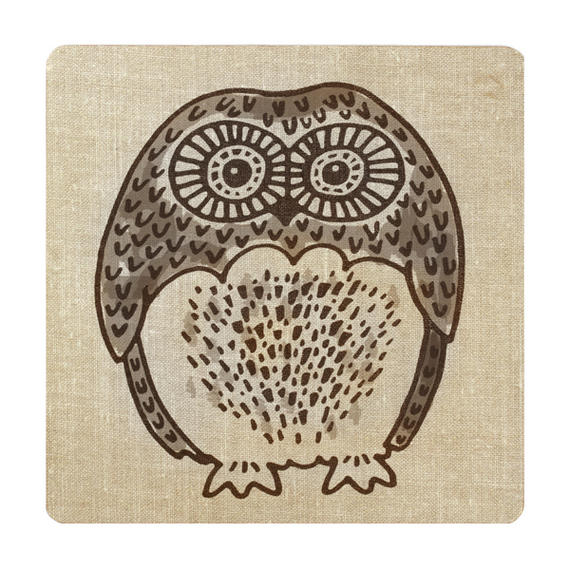 Inspire BCH281838 Luxury Forest Friend Placemats, 29 x 29cm, Hardboard, Natural, Set of 4