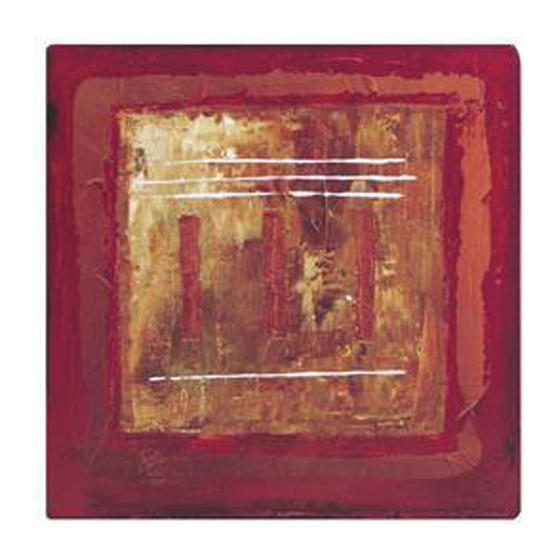 Inspire BCH832288 Luxury Abstract Fire Placemats, 29 x 29cm, Hardboard, Red, Set of 4