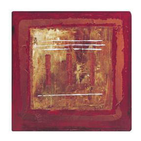Inspire BCH832288 Luxury Abstract Fire Placemats, 29 x 29cm, Hardboard, Red, Set of 4 Thumbnail 1