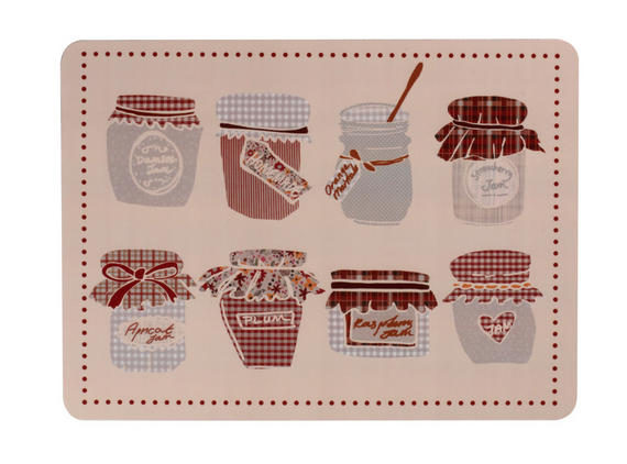 Indulje TW283436 Luxury Jam Placemats, 29 x 21.9cm, Hardboard, Set of 4